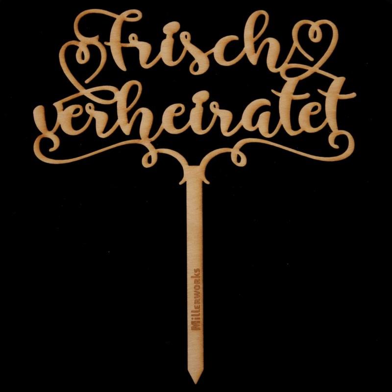 Frisch verheiratet in Holz