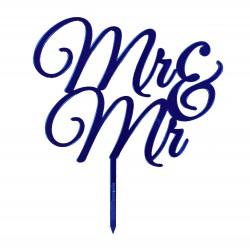 Mr und Mr Typ 4 in Spiegelacryl blau