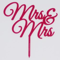 Mrs und Mrs Typ 4 in Acryl pink