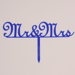 Mr und Mrs Typ 1 in Acryl blau