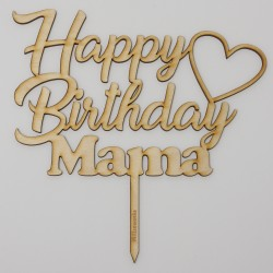 Happy Birthday Mama aus Holz